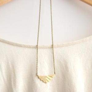 Gold Geometric Necklace // Aztec Ne..
